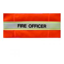 Fire Officer Armband - Hi Visibility Photoluminescent Material Jalite AB3023