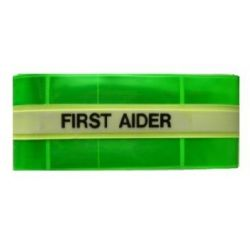 First Aider Armband - Hi Visibility Photoluminescent Material Jalite AB3034