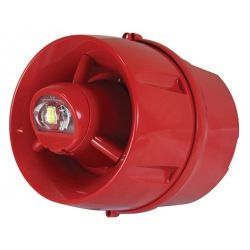 C-Tec BF433A/CX/DR Wall Mounted Sounder VAD Beacon With Deep Base - Red Body Clear Lens