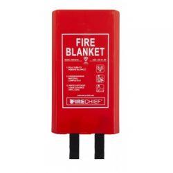 Firechief BPR4/K40 Fire Blanket With Rigid Case - 1.8m x 1.8m
