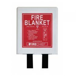 Firechief BPW1/K40 1.0 x 1.0m Fire Blanket With White Rigid Case