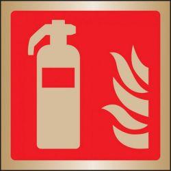 Brass Fire Extinguisher Sign - 59102