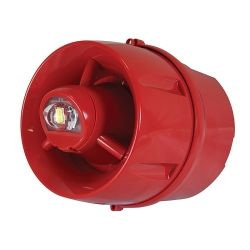 C-Tec CA433A/DR/65 CAST Hi-Output Addressable Weatherproof Wall VAD & Sounder - Red - Deep Base