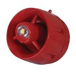 C-Tec CA447A/SR CAST Hi-Output Addressable Wall VAD & Voice Sounder - Red - Shallow Base