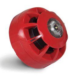 C-Tec CA451A/SR Compact Ceiling VAD & Sounder - Red