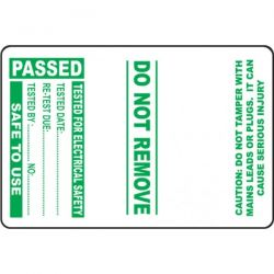 Cable Wrap PAT Testing Label - Passed - Roll of 100 - 54042