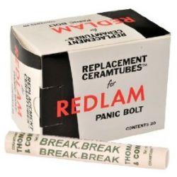 Redlam Panic Bolt Spare Ceramtube - Box of 20 Ceramic Tubes - 46/57050
