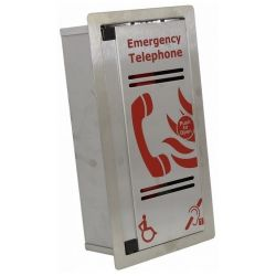 Eaton CFVCFHPSS VoCall Type A Stainless Steel Fire Telephone Outstation - Flush Mounted