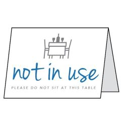 Table Not In Use Double Sided Table Card - Pack of 5 - CV0010