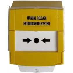 Edwards DMN700Y03-KITR Yellow Manual Release Extinguishing System Break Glass With Protective Cover