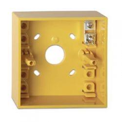 KAC Yellow Surface Mounted Manual Call Point Backbox - DMN787Y