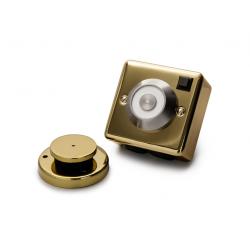 Cranford Controls DRG-BR-230V Brass Door Detent - Flush Mounted 230V (302-087)