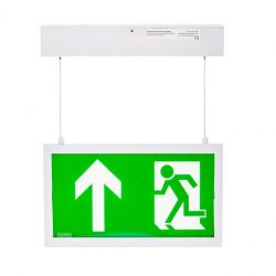 Channel E/CAMBER/HANG/ST LED Hanging Exit Sign With Pictogram Pack & Self Test