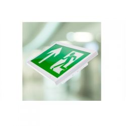 Channel E/CAMBER/WALL/ST LED Wall Mounted Exit Sign - 3hr Maintained - Self-Test Version
