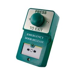 RGL DU-GB/PTE Green Dome Press To Exit c/w Emergency Door Release Break Glass