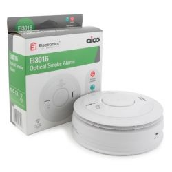 Aico Ei3016 Mains Interlinked Optical Smoke Detector With 10 Year Lithium Battery Backup