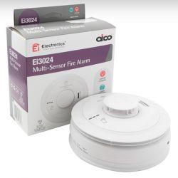 Aico Ei3024 Mains Interlinked Optical Smoke & Heat Multisensor Detector With 10 Year Lithium Battery Backup