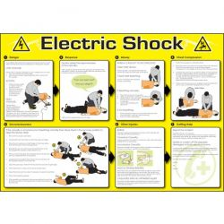 Electric Shock Safety Sign / Poster - 58999