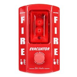 Evacuator Sitemaster Temporary Fire Alarm - Push Button Version - FMCEVASMPB