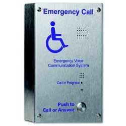 C-Tec EVC302S Handsfree Duplex EVC Disabled Refuge Stainless Steel Outstation - Surface Mounted