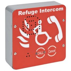 Eaton CFVCSHF VoCall Type B Outstation - Surface Mounted - Red