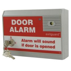 Hoyles EX104R Exitguard Fire Door Alarm With Keyswitch - Red - Battery Powered