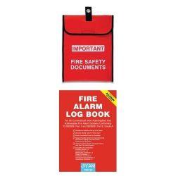 Fire Alarm System Log Book Starter Pack - Includes Document Holder - FAS-LB-SP