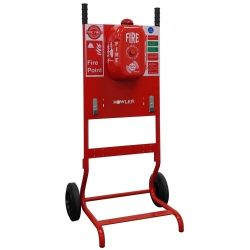 Howler FirePost Mobile Fire Point Complete With Signage & 2 x Extinguisher Brackets - TR02