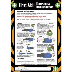 First Aid Emergency Resuscitation Sign / Poster - 55900
