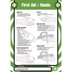 First Aid Hands Safety Sign / Poster - 55903