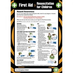 First Aid Resuscitation For Children Sign / Poster - 55907