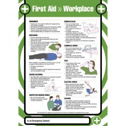 First Aid Workplace Safety Sign / Poster - 55901
