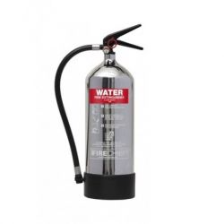 Firechief 1818 Polished Chrome 6 Litre Water Fire Extinguisher - FPW6/CH