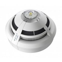 Gent S4-711-V-VAD-LPW Vigilon S-Quad Dual Optical Heat Detector Voice Sounder & White VAD