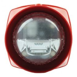 SMS SEN-S-VAD-LPR-R SenTRI Sounder & VAD Beacon - Red Body Red Flash