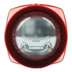 Gent S3EP-V-VAD-HPR-R Voice Sounder & VAD Beacon - IP66 - Red Body & Red VAD
