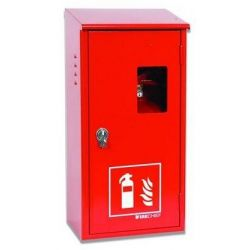 Metal Large Fire Extinguisher Cabinet With Latch - For Single Extinguisher - FM91