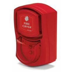 Fire-Cryer FC3/A/R/R/S Voice Sounder and Beacon - Red With Shallow Base