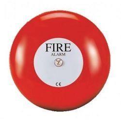 Vimpex MBF-6EV-12 Fire Alarm Bell - 12V DC - Red
