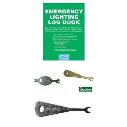 Emergency Lighting Testing Starter Pack - Log Book & Test Keys