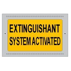 Kentec Extinguishant System Activated Illuminated Warning Sign - K27202