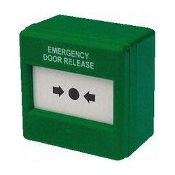 Green Emergency Door Release Call Point - 240V Rated CXM-CO-G-G-BB