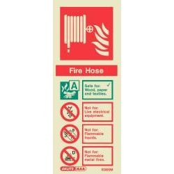6365M Jalite Rigid PVC Photoluminescent Fire Hose ID Sign 200 x 80mm