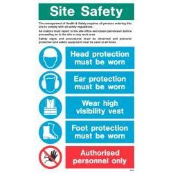 WX9020 Jalite White Exterior Site Safety Instruction Sign 750 x 450mm