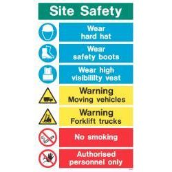 WX9317 Jalite White Exterior Site Safety Instruction Sign 750 x 450mm