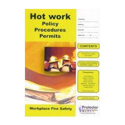 Hot Work Policy Procedures Book From Protector - P010
