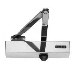 Briton 2130BDC Fire Door Closer Overhead Size 2 - 6 Delayed Action Back Checked - Silver Finish