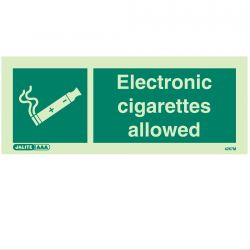 Jalite 4267M Electronic Cigarettes Allowed Sign