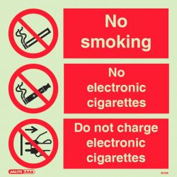 Jalite 8039E No Smoking Sign & No Electronic Cigarettes Sign