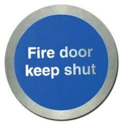 Jalite AL5421O Fire Door Keep Shut Disc - Aluminium With Self-Adhesive Backing